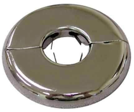 """1/2"""" CTS, 2-7/16"""" OD, 21 Gauge, Chrome Plated, Split, Flexible, Floor and Ceiling Plate with Spring"""