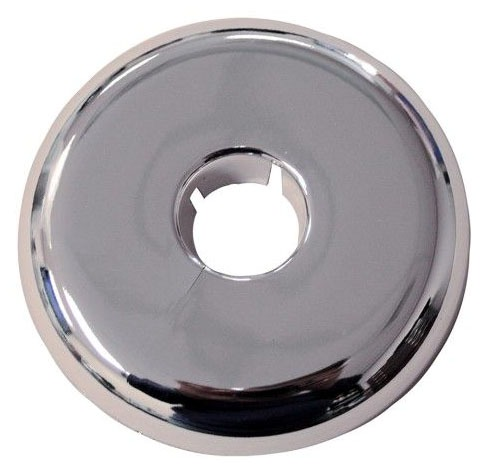 "2-1/2"" CTS Chrome Plated Plastic Flexable Floor and Ceiling Plate"