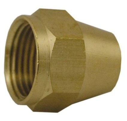 """1/4"""" OD Brass Short Flare Nut Style 41S"""