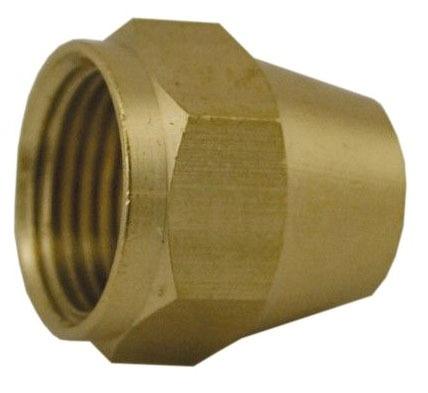 """3/8"""" OD Brass Short Flare Nut Style 41S"""