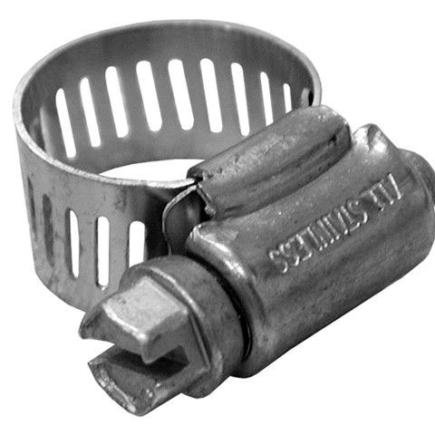 """3/8"""" to 7/8"""" All Stainless Steel Full Size 1/2"""" Band Gear Clamp Size #6"""