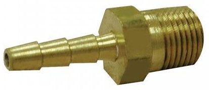 "3/8"" Hose Barb X 1/2"" MPT Brass Adapter"