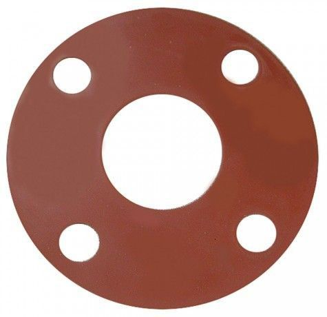 "3"" Red Rubber Full Face Gasket"