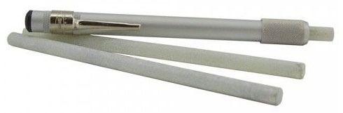 Round Lightweight Soap Stone and Holder, Aluminum