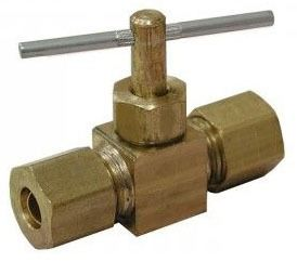 "3/8"" Compression X 3/8"" Compression Straight Compression Needle Valve"
