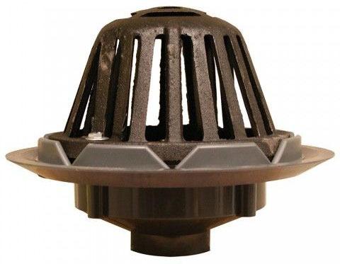 "2"" PVC Roof Drain W/Cast Iron Dome"