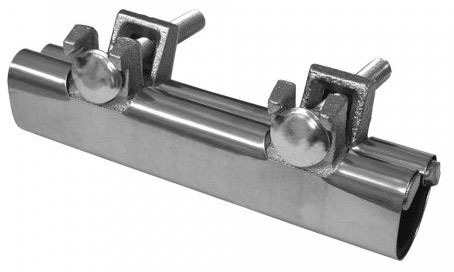 "3/8"" IPS and 1/2"" Copper Stainless Steel 6"" Long Two Bolt Repair Clamp"