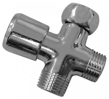 Chrome Plated Brass Push Button Shower Diverter Valve