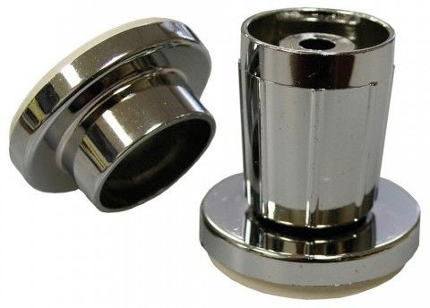 "Chrome Plated Plastic Shower Rod Jiffy Flange for 15/16"" and 1"" OD Rod"