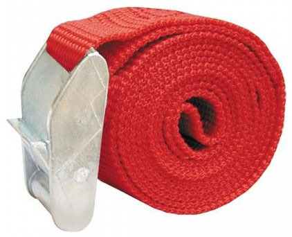 "1"" X 4' Red 750# Test Nylon Cam Strap"