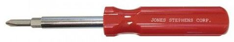 Phillips/Slotted 4 in 1 Screwdriver, Alloy Tool Steel Bit