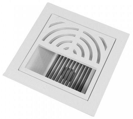 "4"" PVC Floor Sink W/ 1/2 Grate & Dome Strainer"
