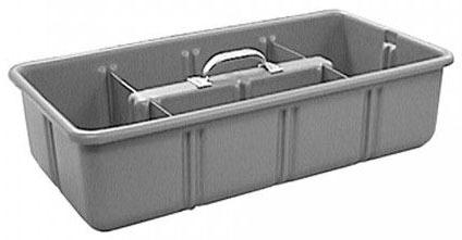 "12 X 24 X 6"" Tote Tray, Polyethylene"
