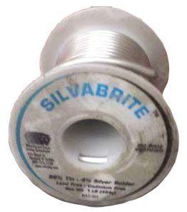 """Solder Wire - SILVABRITE, 1/8"""" Dia, 440 to 660 Deg F"""