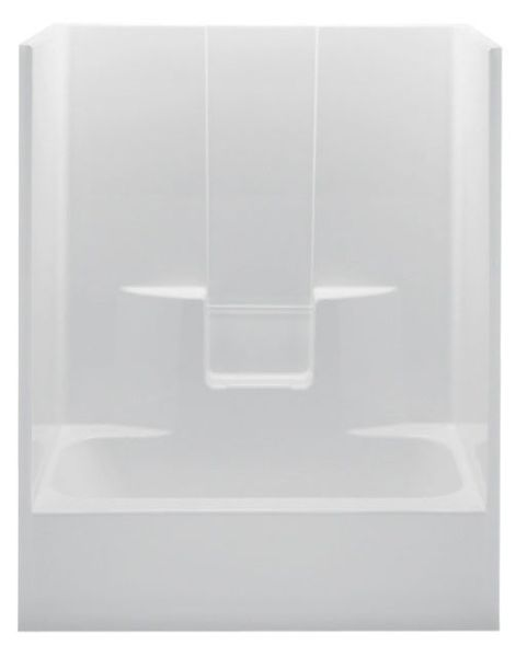 Right Hand Tub and Shower Module - White Smooth Wall