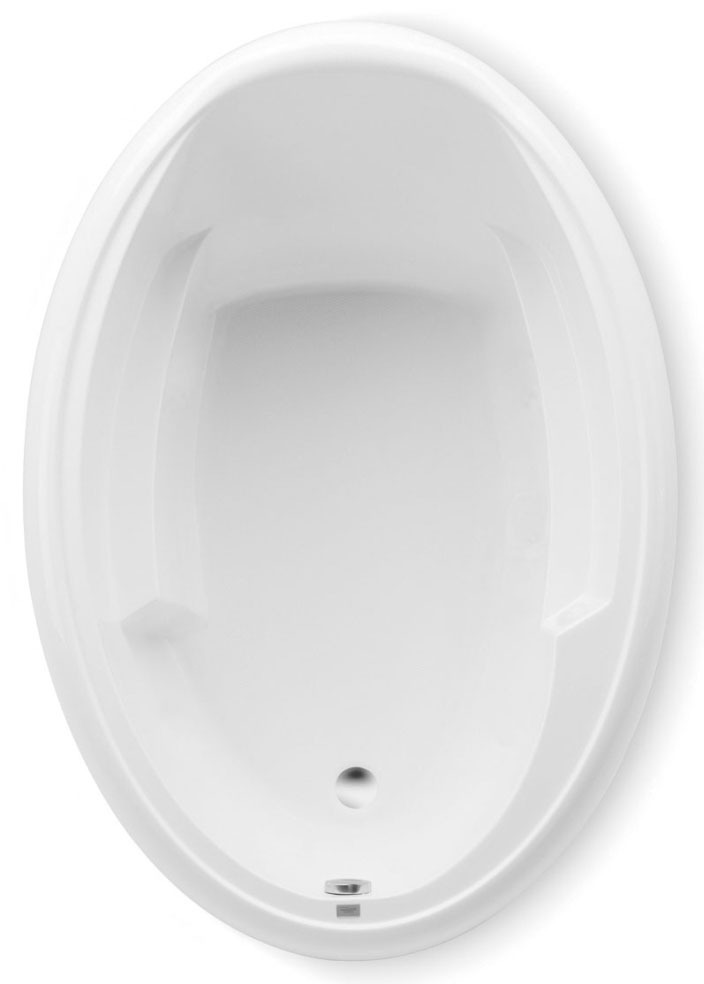 "66"" x 42"" x 23"" Whirlpool Tub - ARIEL II, Biscuit, 8-Hydrotherapy Jets"