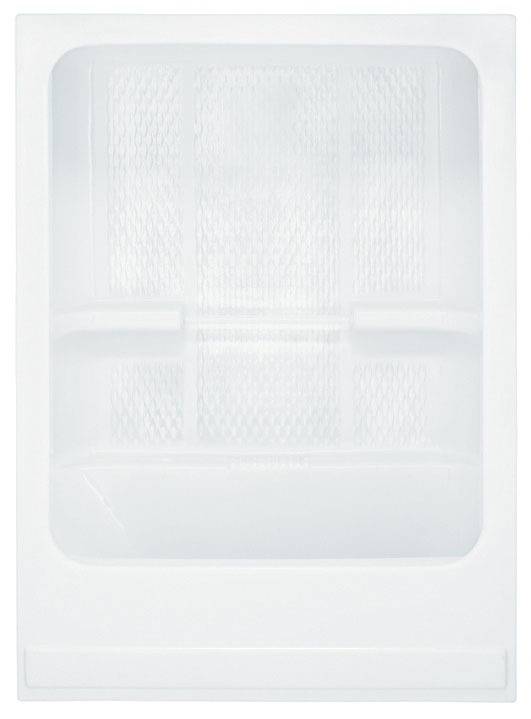 1-Piece Left Hand Tub and Shower Module - White Textured Bottom