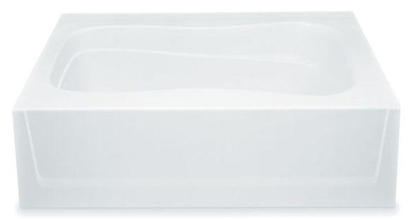 """60"""" x 36"""" x 17"""" Alcove Bathtub - White"""