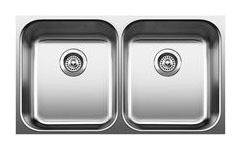 "31-1/8"" x 18"" Undermount Double-Equal Bowl Kitchen Sink - BLANCO SPEX, Satin, Stainless Steel"