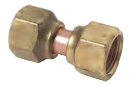 "1/2"" Rough Brass Straight Connector - Swivel Flare Nut"
