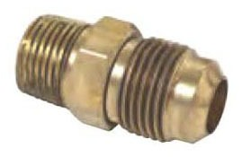 "3/4"" Rough Brass Male Straight Adapter - 45D Flare Compression x MPT"