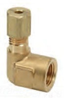 """1/2"""" x 1/2"""" Rough Brass 90D Reducing Elbow - Compression x FPT"""