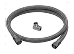 """3/8"""" Compression Flexible Dishwasher Connector - Speedi Plumb, Polymer Braided, with 3/8"""" MPT Elbow"""