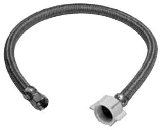 "3/8"" x 7/8"" Flexible Compression x Ballcock Toilet Connector - Speedi Plumb, Polymer Braided"