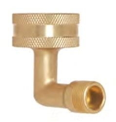 "3/4"" x 3/8"" Rough Brass 90D Reducing Elbow - FHT x Compression"