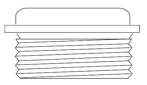 "1/2"" Faucet Bibb Seat - Brass, 27 TPI"