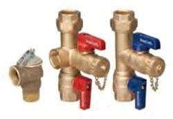 "3/4"" Soldered x 3/4"" IPS Water Heater Service Valve Kit - Pressure Relief Valve"