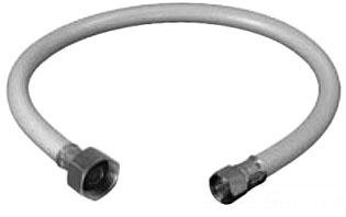 "3/8"" x 1/2"" Compression x FPT Flexible Faucet Connector - Speedi Plumb, Vinyl, with Metal Nut"