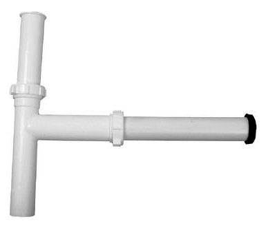 "Disposal Waste Kit - White Plastic, 1-1/2"" x 13"", For In-Sink-Erator Disposal"