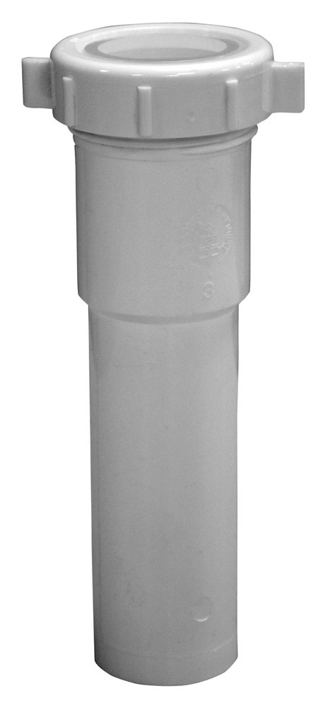 "1-1/2 X 6"" Slip Joint End Extension Tube, Polypropylene"