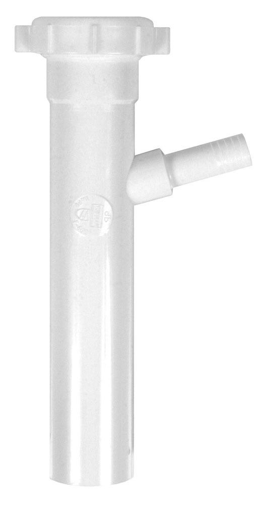 """1-1/2 X 8"""" Slip Joint Tubular Tailpiece, Polypropylene"""
