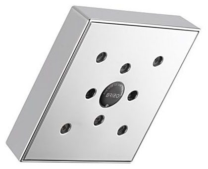 1-Setting 2 GPM Square Shower Head - Siderna, Chrome Plated