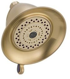 3-Setting 2.5 GPM Shower Head - Victorian, Champagne Bronze