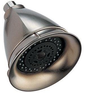 3-Setting Round Shower Head - VESI, Brushed Nickel