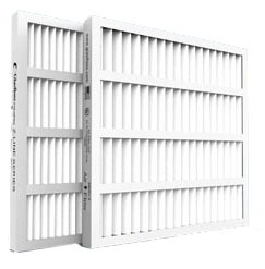 """14 X 25 X 2"""" Pleated Air Filter, Synthetic Fiber Media"""