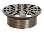 """6"""" Dia Floor Drain Strainer - SUPER-FLO, Satin, Stainless Steel"""