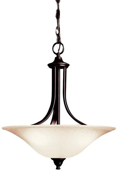 3-Light 100 W A19 Incandescent Pendant Light Fixture - Dover, Tannery Bronze, E26 Medium Base