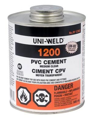 PVC Solvent Cement - UNI-WELD, Medium Clear, 16 Oz Can