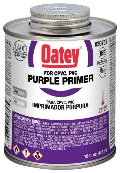 16 Oz Can, 14 to 23 Deg F Flash Point, Purple, Low VOC, Primer