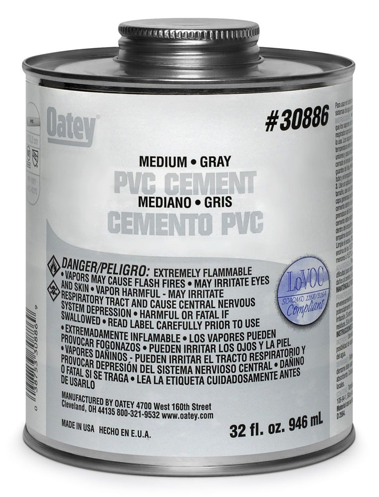32OZ PVC GRAY CEMENT