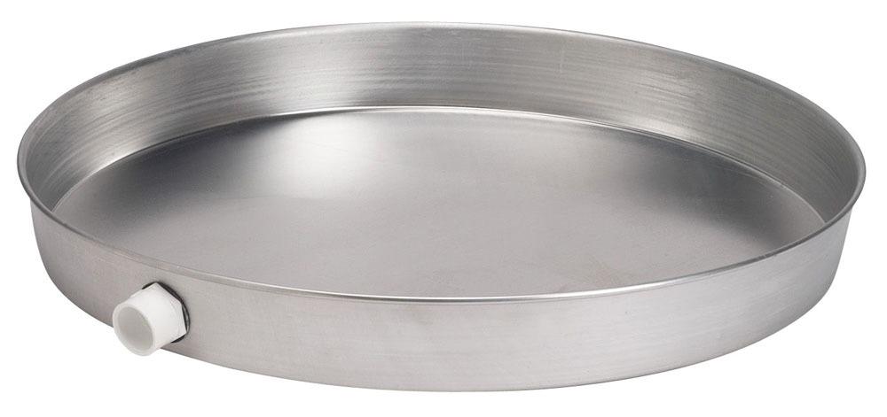 """20"""" Round Water Heater Pan - Aluminum"""