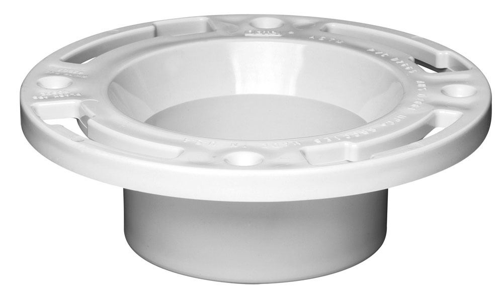PVC Closet Flange with Plastic Ring - Level Fit