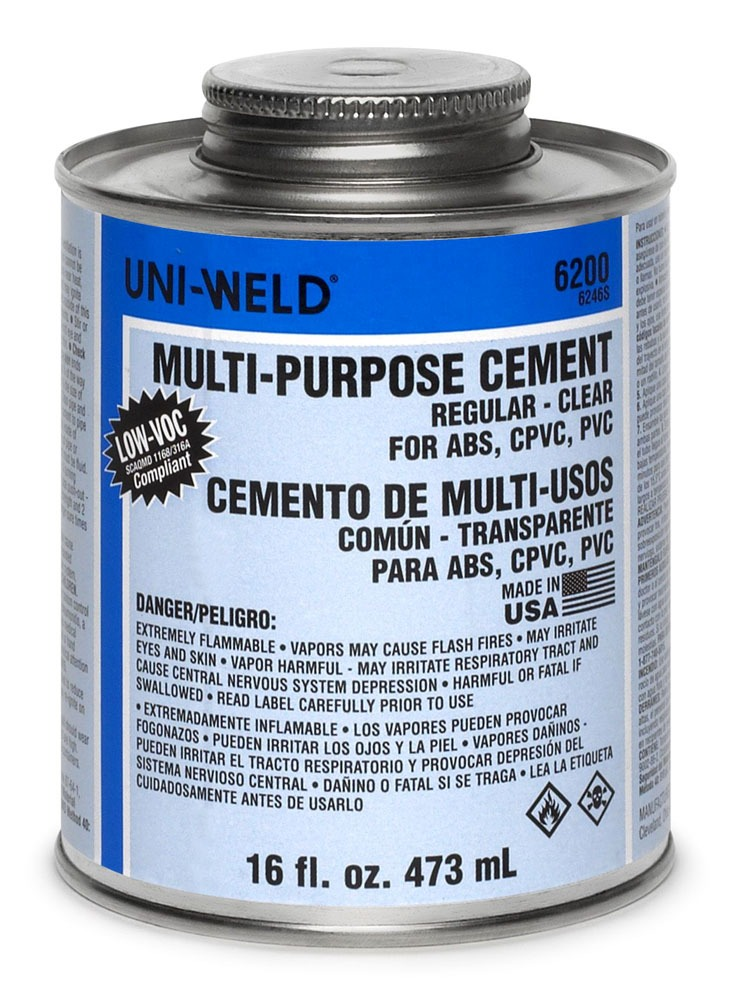 CPVC Solvent Cement - UNI-WELD, Regular Clear, 16 Oz Can
