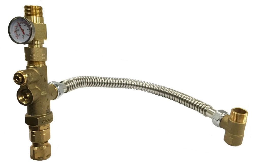 "3/4"" Thermostatic Mixing Valve - Heatguard / TANK BOOSTER PRO"