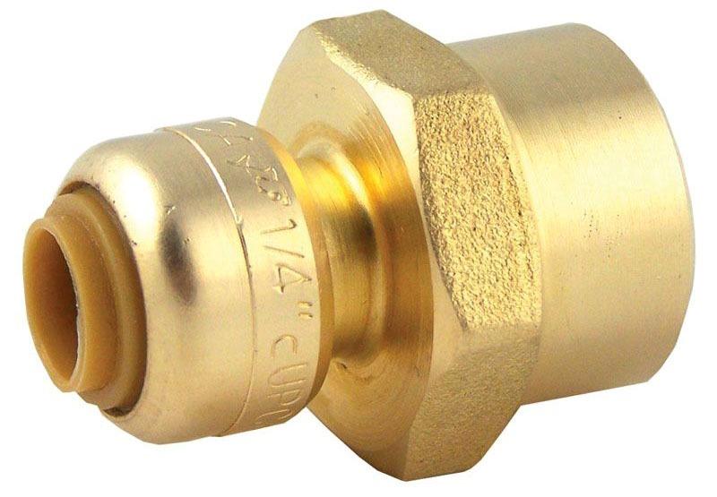 "1"" DZR Brass Female Straight Connector"