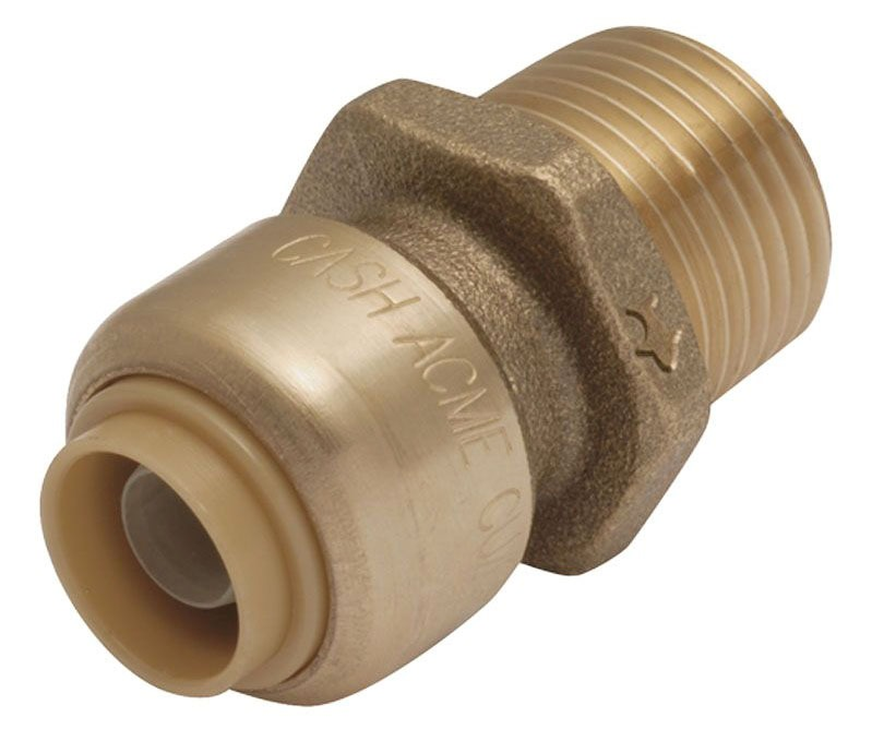 "1"" X 3/4"" DZR Brass Male Reducing Connector"